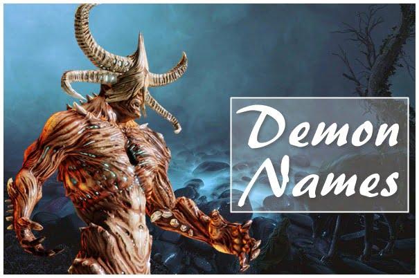Demon Names List (2020) - Hunter, Female, Male, Cool
