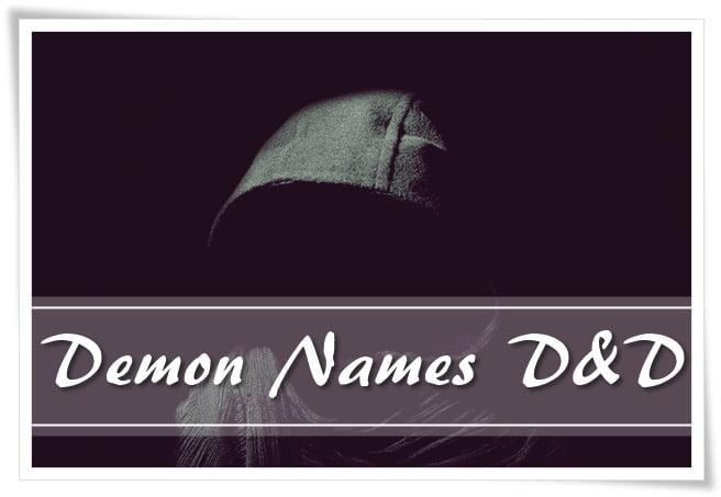 Demon Names d&d
