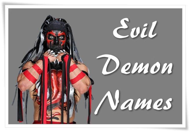 Evil Demon Names