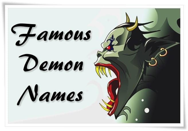 Famous Demon Names