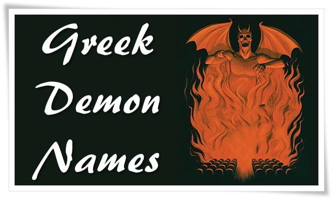 Greek Demon Names