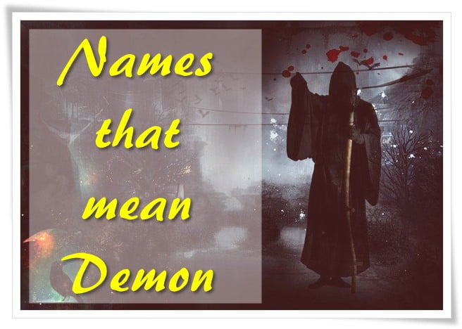 Names that mean Demon