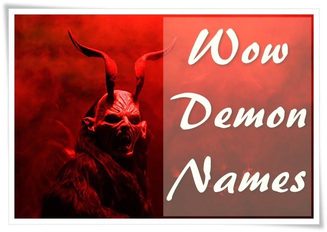 Wow Demon Names