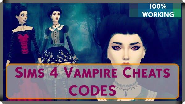 Sims 4 Vampire Cheats Codes PC, PS4, Xbox One